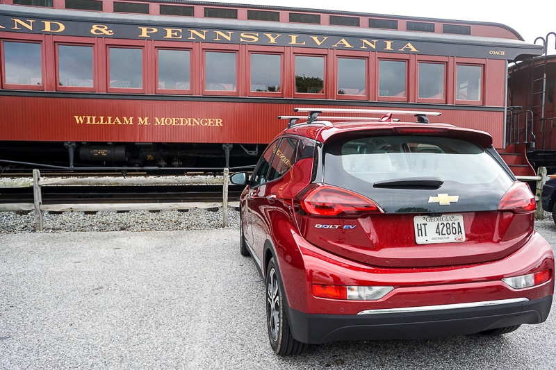 Arriving at Strasburg Railroad
