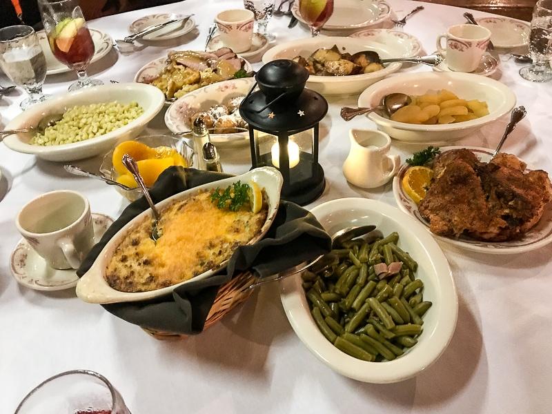 Dining family style at Hickory Bridge Farm