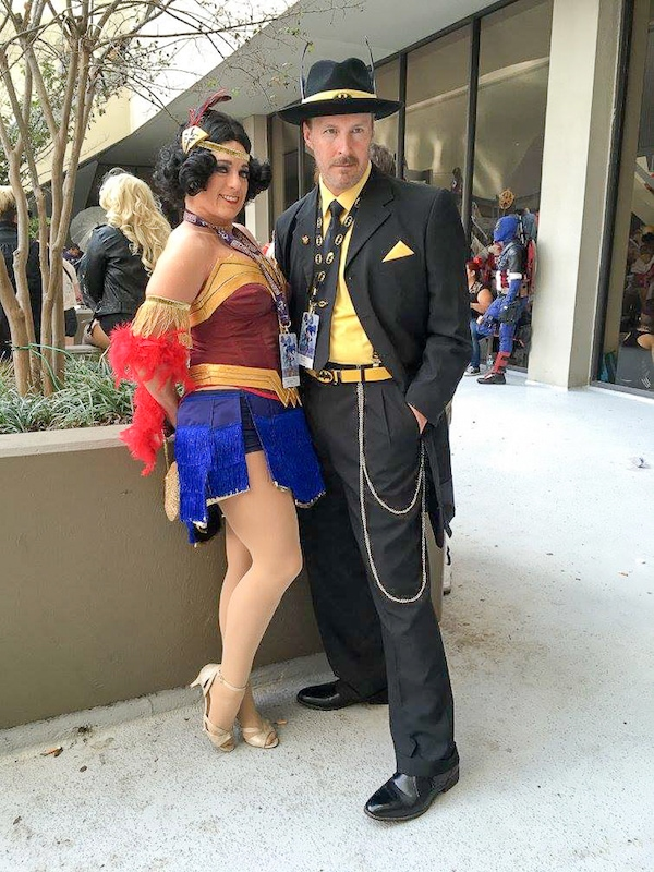 Flapper Wonder Woman and Gangster Batman