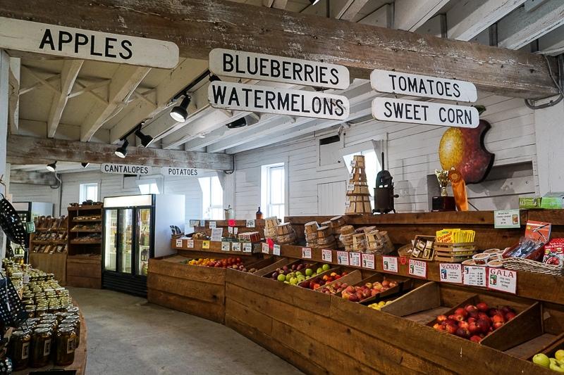 Market below Historic Round Barn