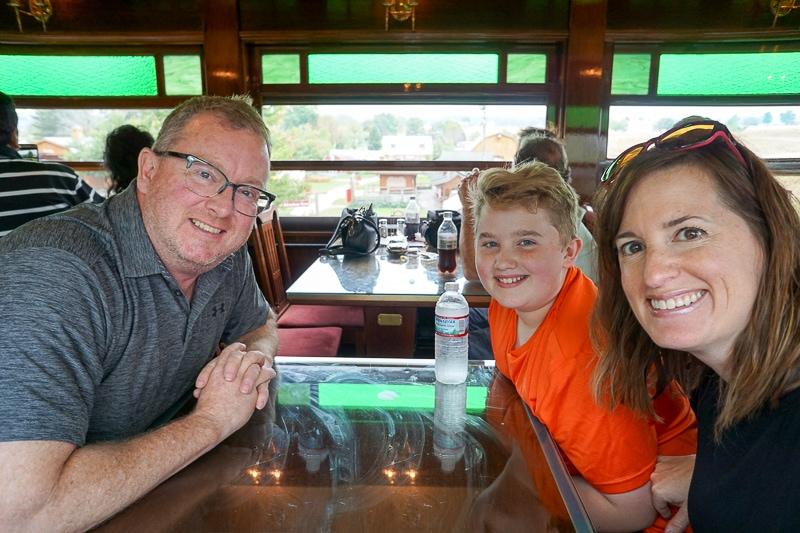On board the dining car - Strasburg Railroad