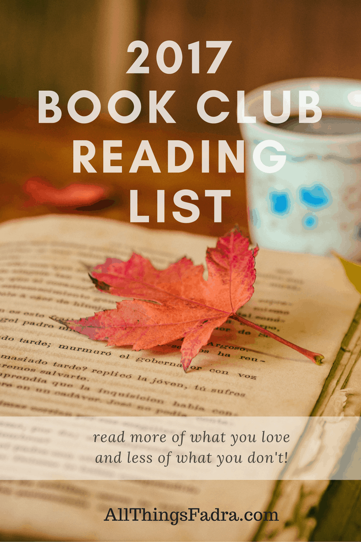 2017 Book Club Selections