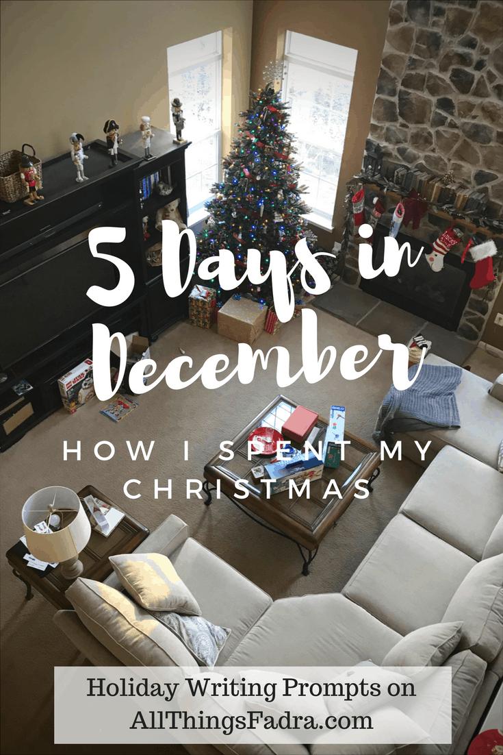 How I Spent My Christmas