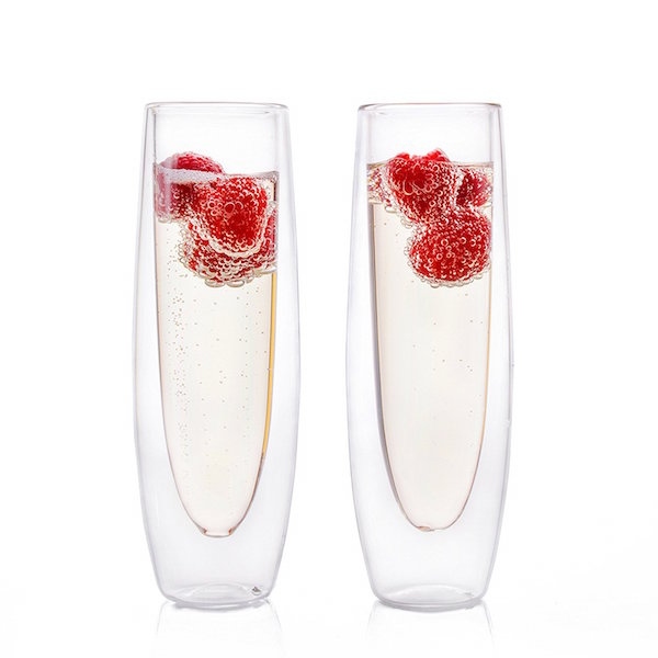 Insulated champagne flutes