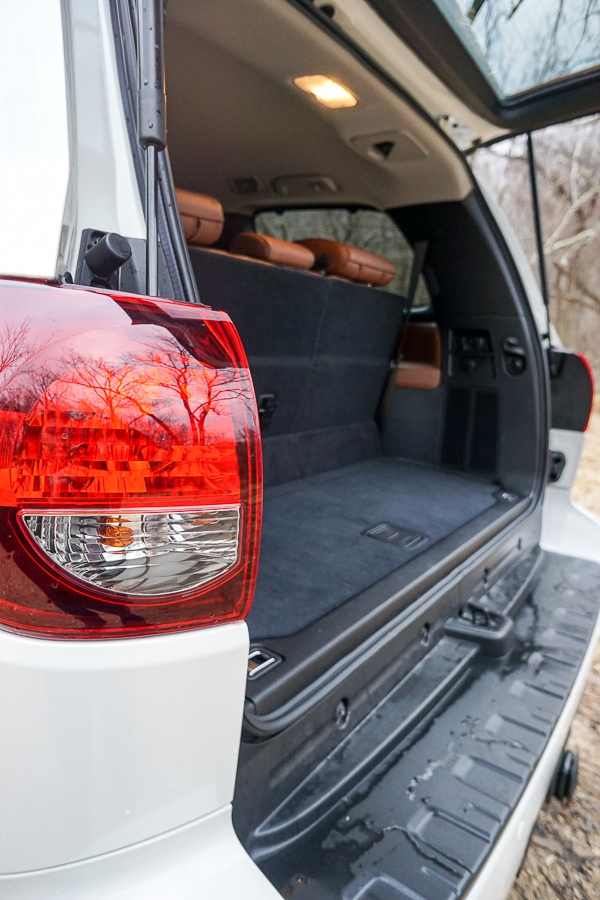 Cargo space in the Toyota Sequoia