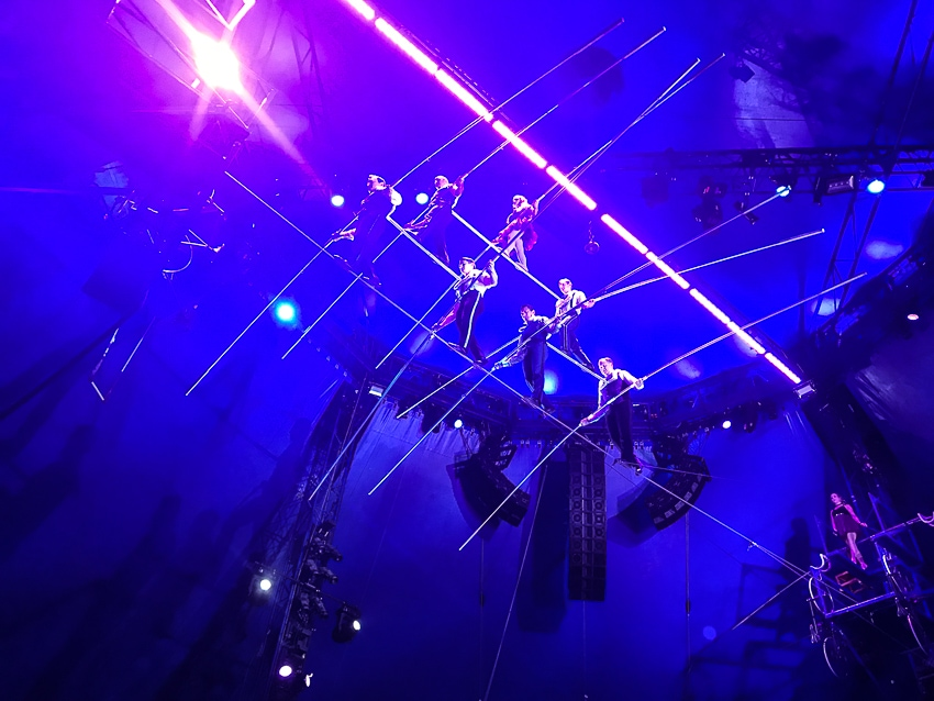 Flying Wallendas on the high wire at Big Apple Circus