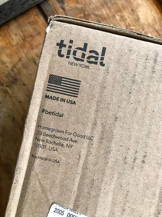 Tidal Flip Flops packaging
