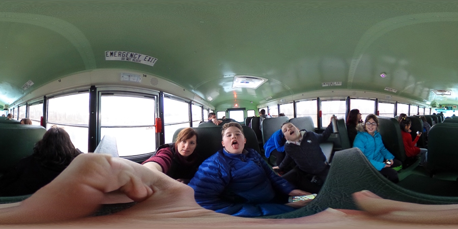 360 degree picture on a school bus field trip