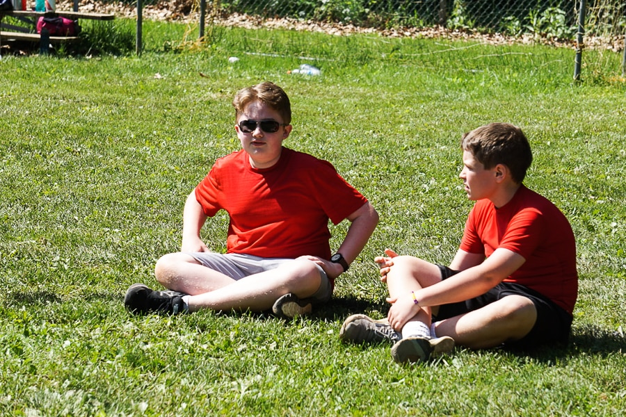 Evan and Justin