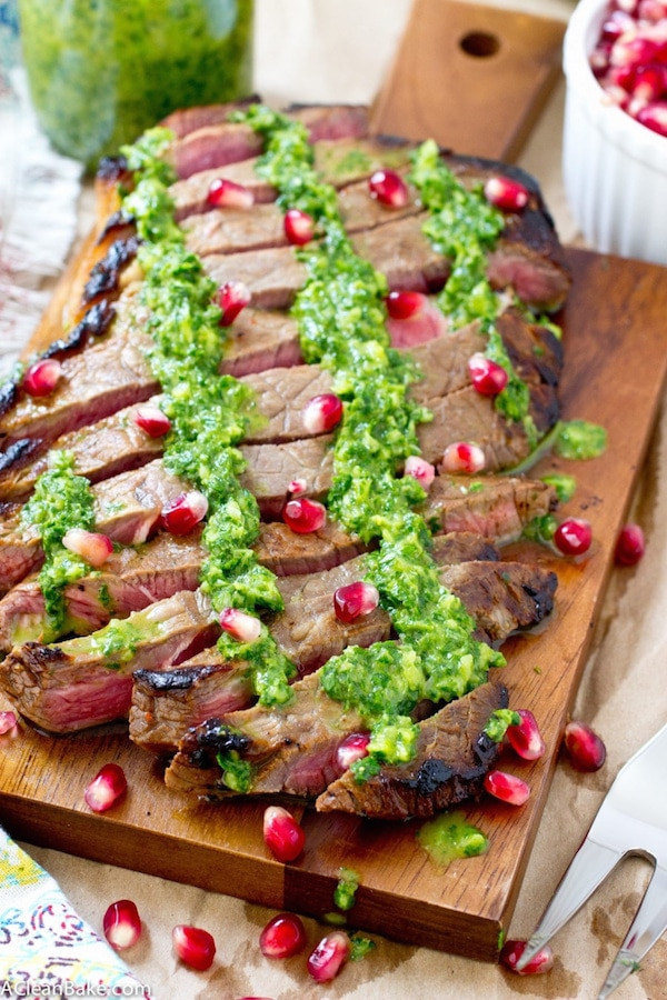 FLANK STEAK WITH CHIMMICHURRI