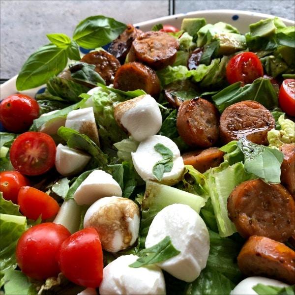 tomato-mozzarella-chopped-salad-with-sausage