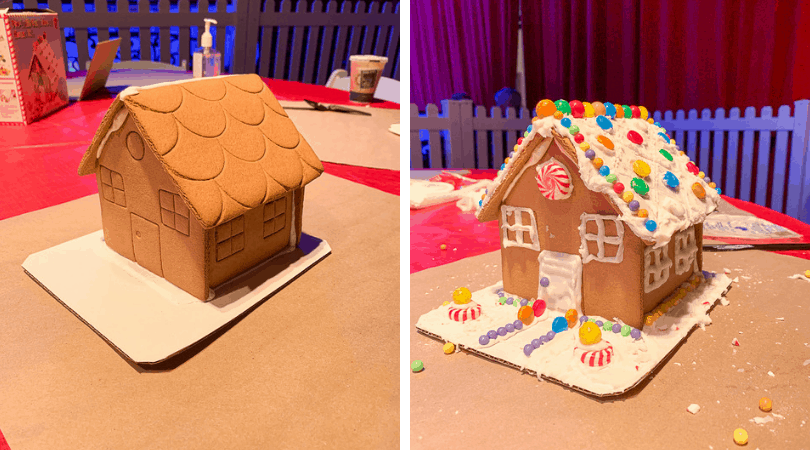 Gingerbread house - before and after