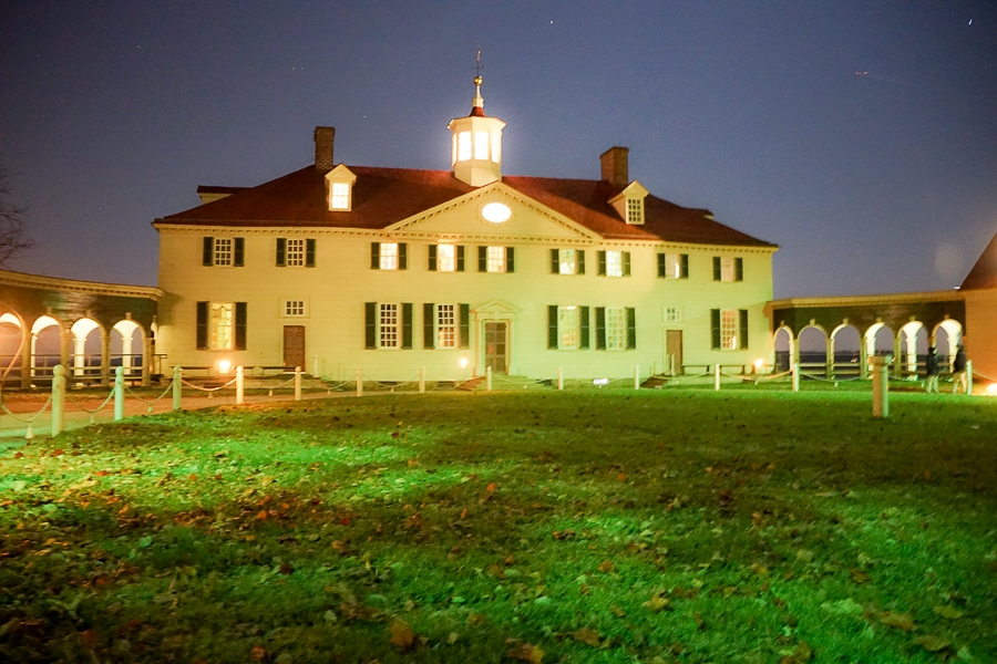 Mount Vernon by candlelight does not make for great photography!