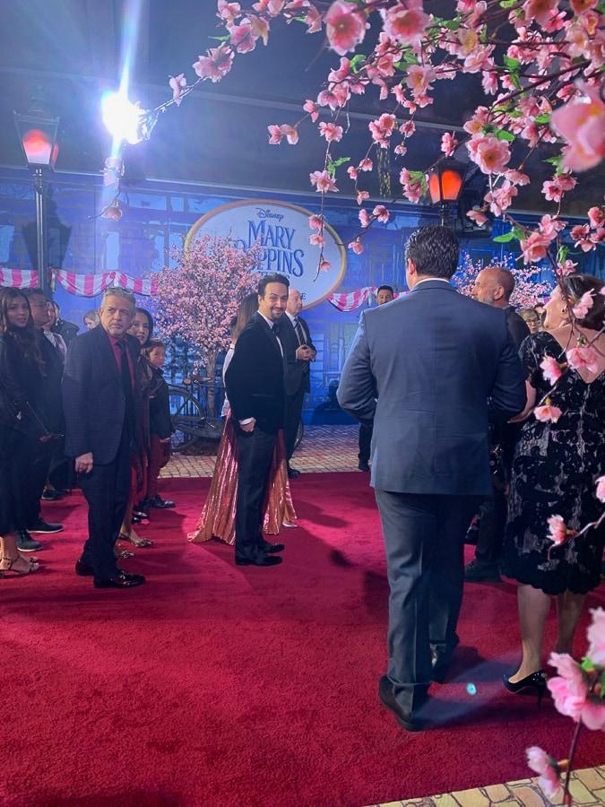 Lin Manuel Miranda at Marry Poppin Returns