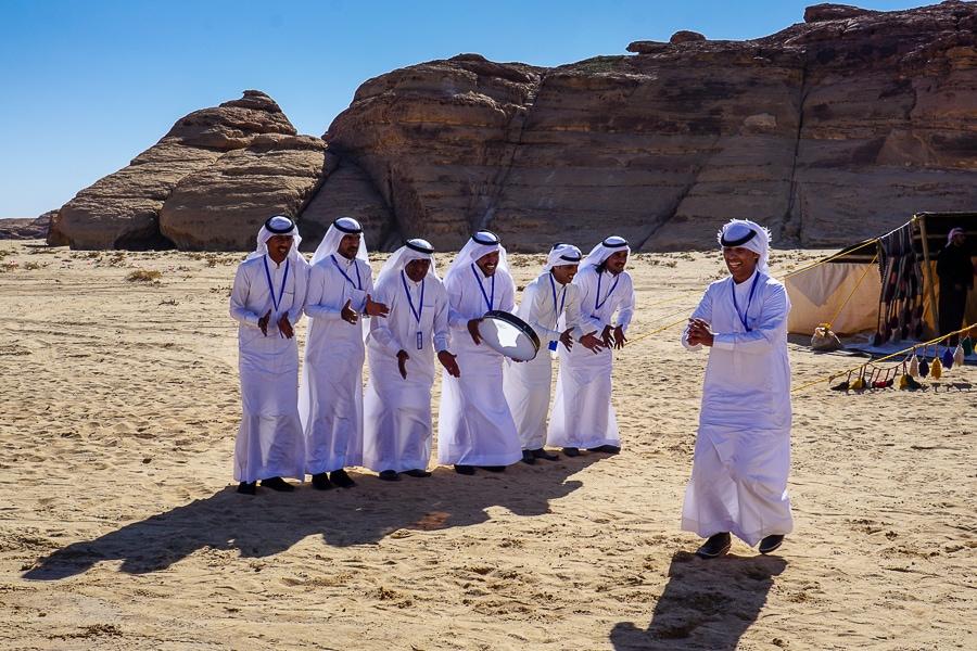 Dancers in the desert