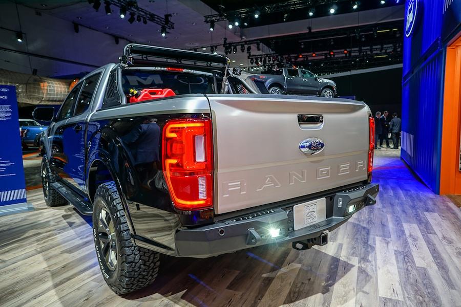 LA Auto Show-Ford Ranger rear