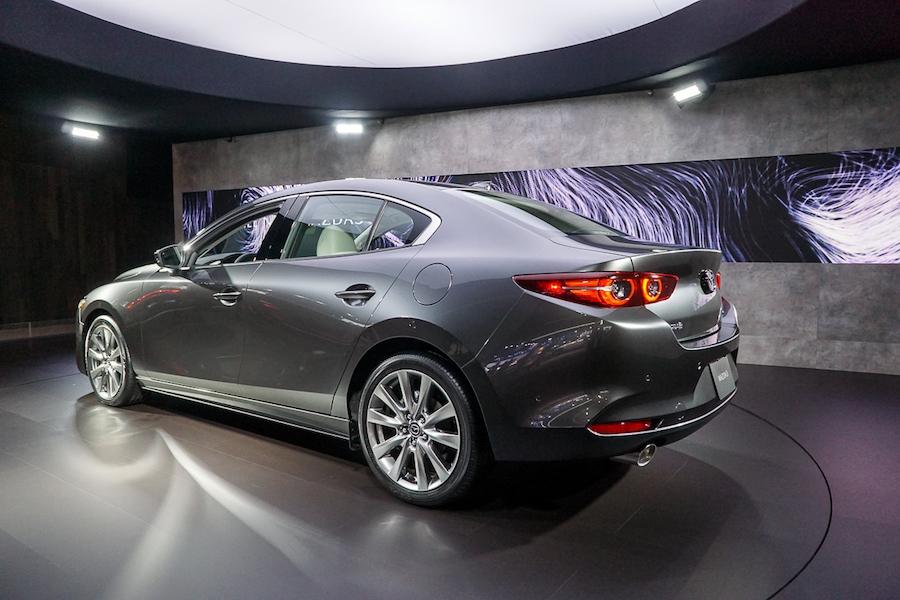 LA Auto Show-Mazda 3 sedan