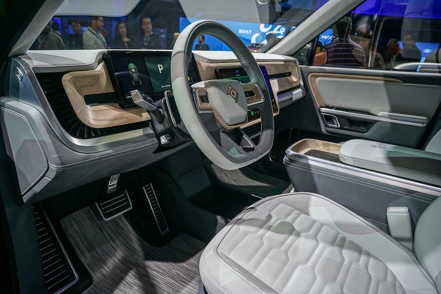 LA Auto Show-Rivian R1S interior