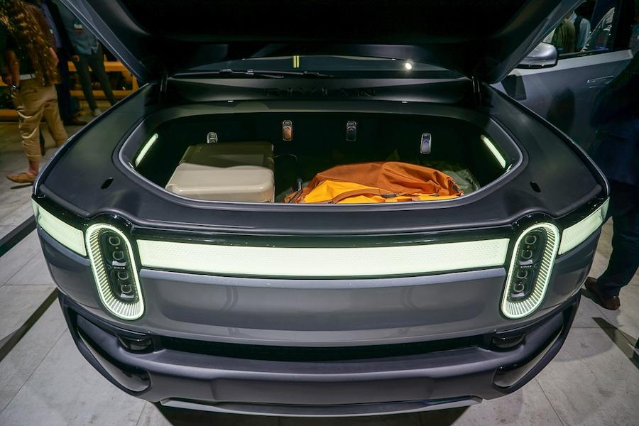 LA Auto Show-Rivian R1T trunk