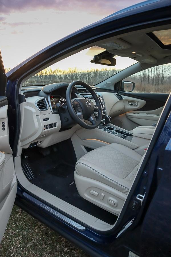 Nissan Murano Platinum interior for 2019