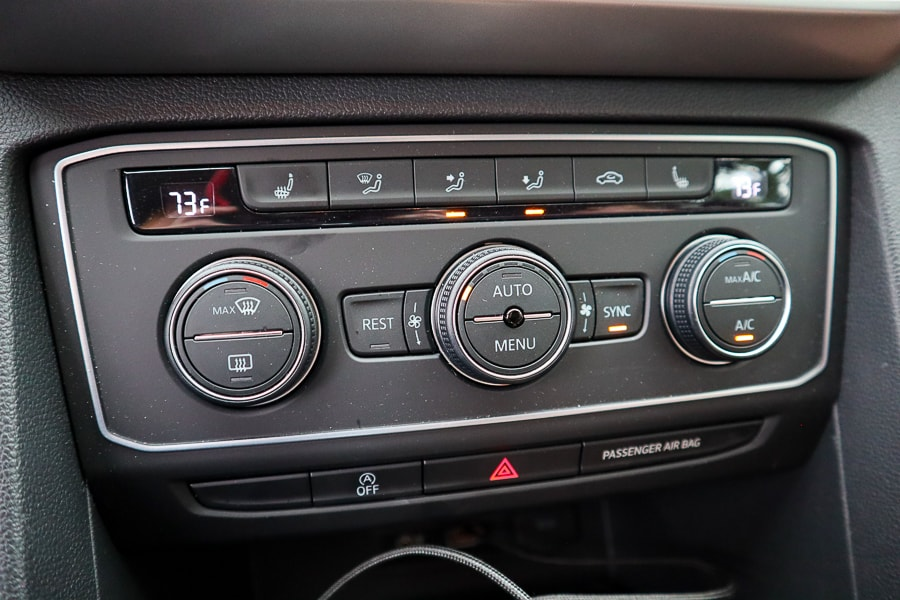 VW Atlas engine and climate controls