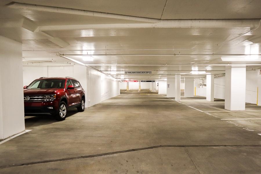 Parking in a DC parking garage