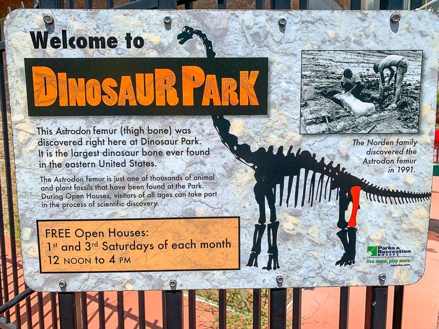 Dinosaur Park in Laurel