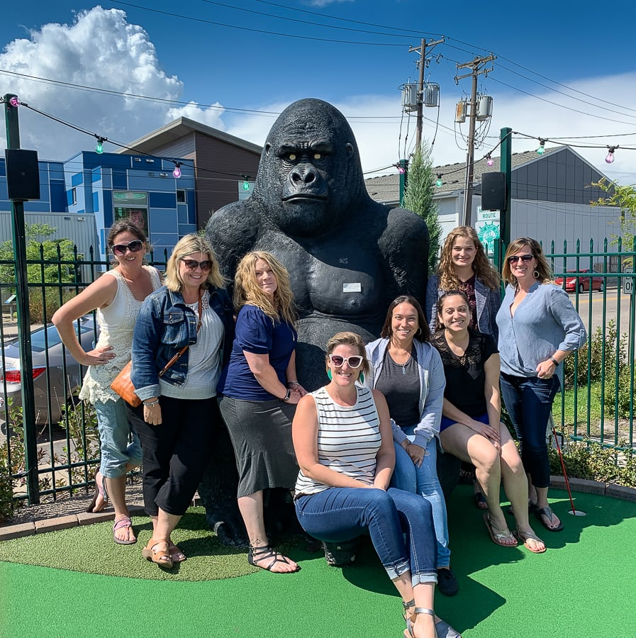 Travel writers and friends in Roseville, Minnesota