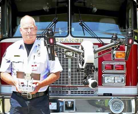 DJI Inspire 1 Drone Orange Fire Department