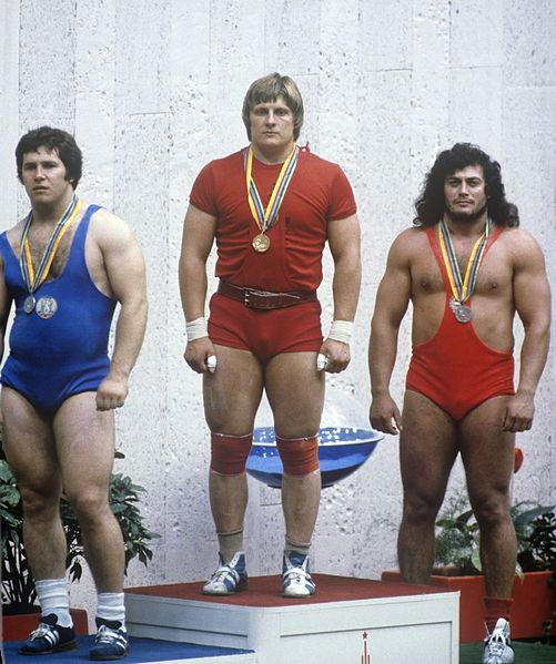 1980 Olympics Moscow Weightlifting Leonid Taranenko Valentin Khristov Gyorgy Szalai
