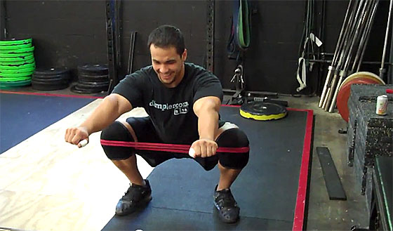 Ben Claridad Band Squat Knees Out Drill