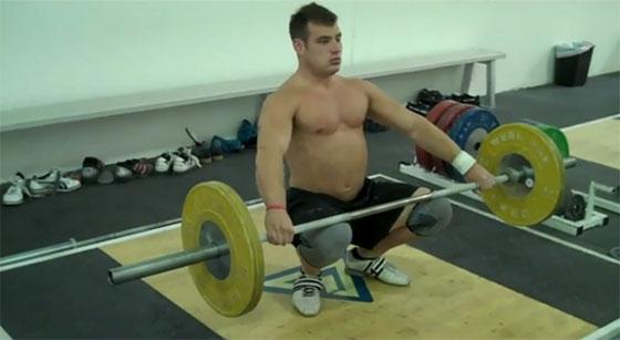Jon North Ankle Hip Flexibility Barbell Stretch Squat