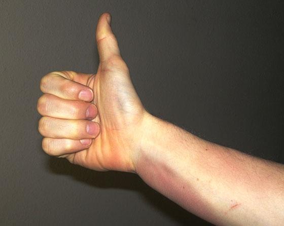 Krav Maga Thumbs Up