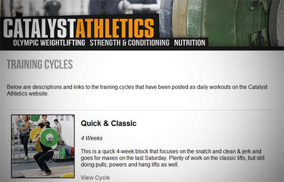 cathletics olympic weightlifting program