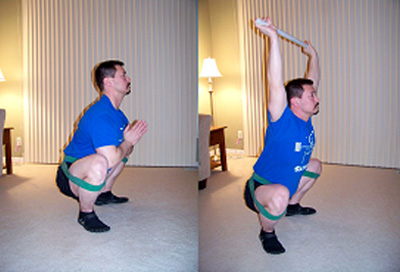 Jump Stretch Rubber Band Squat