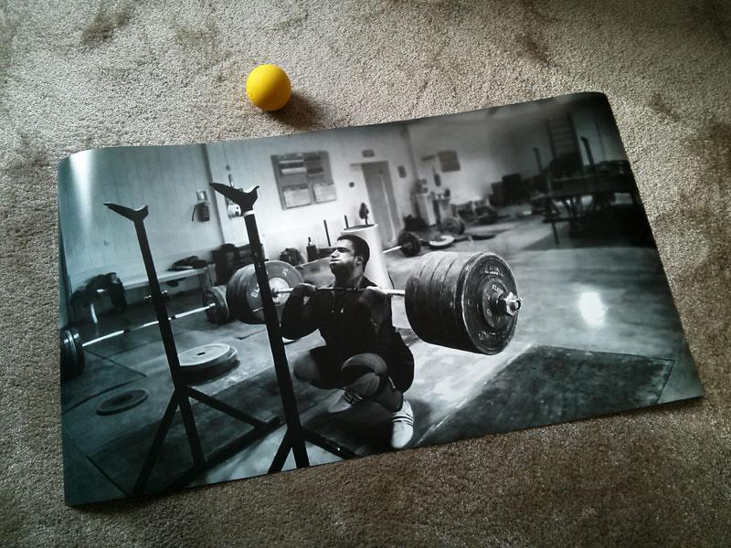 dmitry klokov front squat poster print