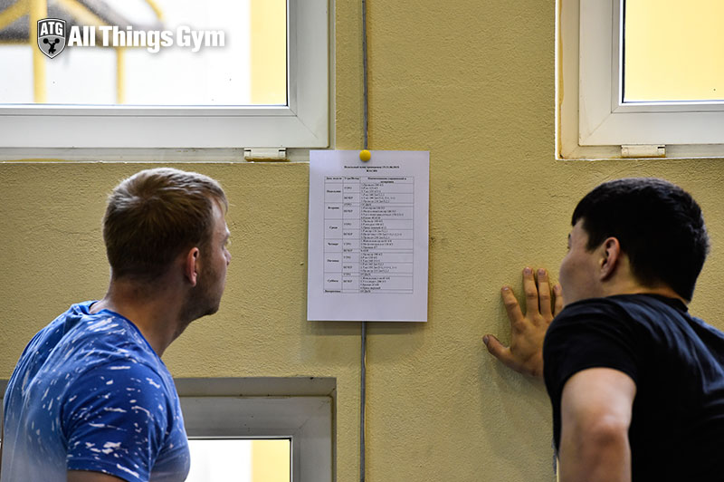 Kirill-Pavlov-and-Zhassulan-Kydyrbaev-looking-at-the-training-plan-atg