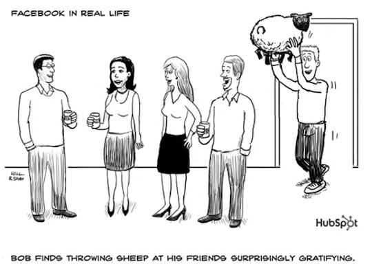 Facebook-in-Real-Life-Throwing-Sheep