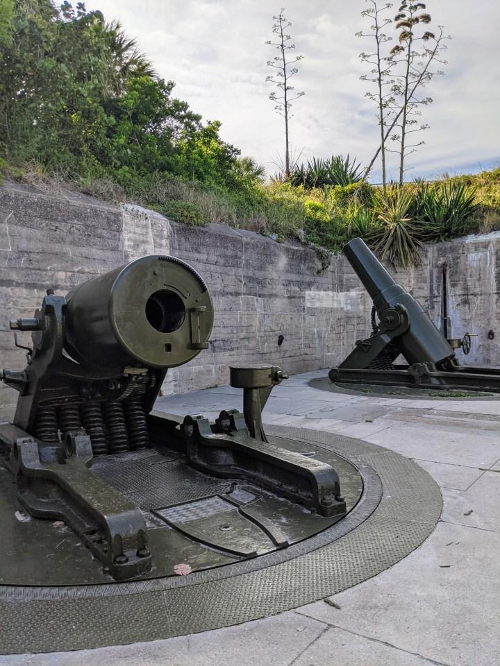 Coastal Defense Mortars at the Fort
