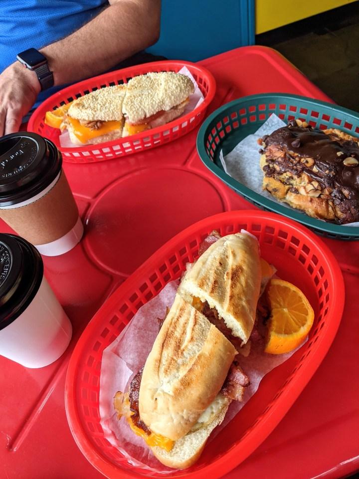 Breakfast sandwiches  at Coffee Mia