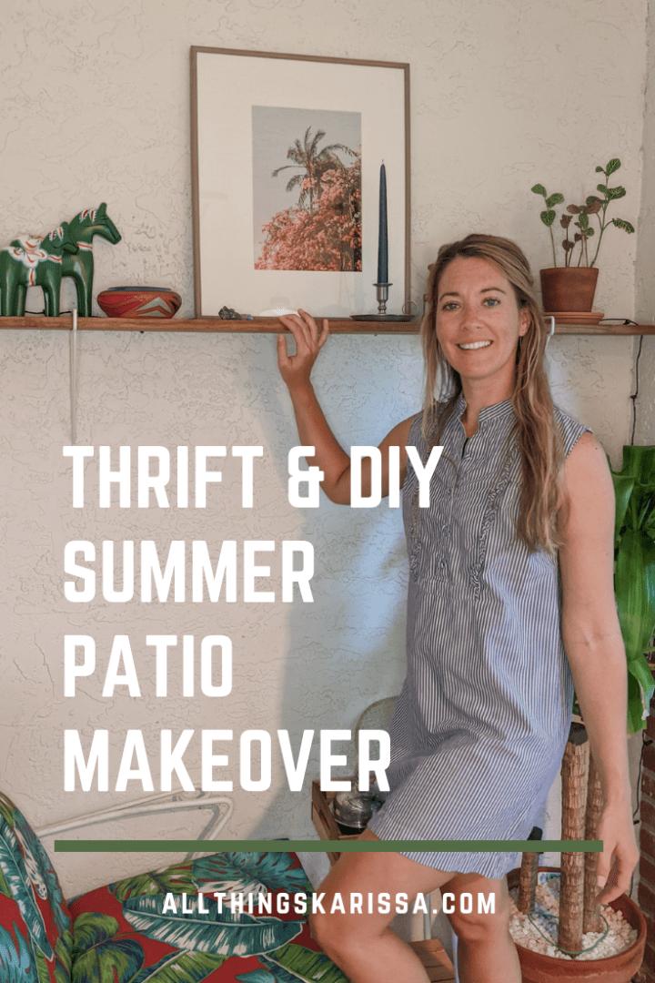 Thrift & DIY Summer Patio Makeover