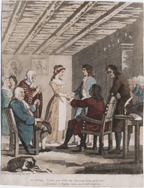 Wedding scene from Ramsay's The gentle shepherd, Act V, Printed for G. Reid and Co., 1798 From The Lewis Walpole Library at Yale University