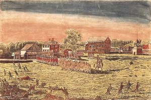 Amos Doolittle's engraving of the Battle of Lexington. Source: New York Public Library