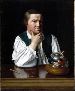 1768 portrait of Paul Revere by John Singleton Copley. Current location: Museum of Fine Arts, Boston