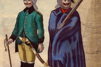 Russian uniforms, c. 1770 (Anne S. K. Brown Military Collection)
