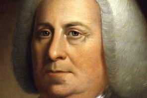 Detail of portrait of Virginia Gov. Robert Dinwiddie by an unknown artist. (National Portrait Gallery)