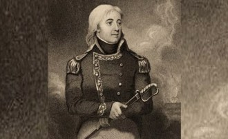 Engraving of Captain Joshua Barney based on a miniature by French artist Jean-Baptiste Isabey. (Darlington Digital Library, University of Pittsburgh)