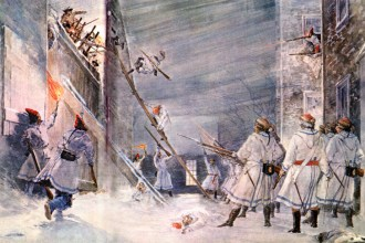 Defending Quebec from an American attack, December 1775. (New York Public Library)