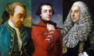 Left: Lord Hillsborough (Dickinson Gallery); Middle: Duke of Grafton (National Portrait Gallery); Right: Lord Camden (National Portrait Gallery)