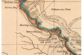 Detail of a map of Georgia and South Carolina. (Leventhal Map Center, Boston Public Library)